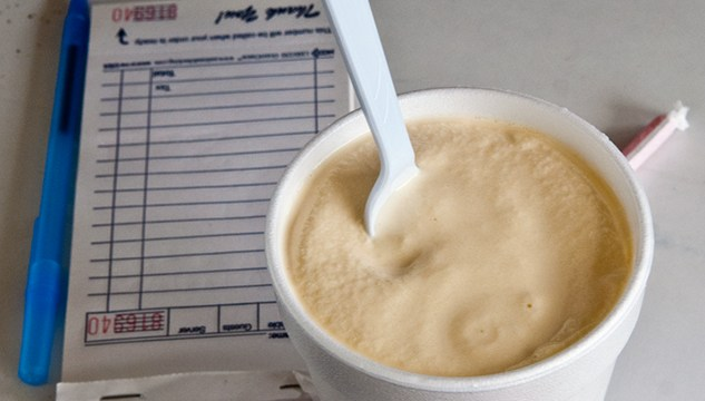 Sooner Dairy Lunch's classic butterscotch milkshake (Mark Hancock)