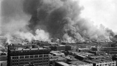 This picture taken from the roof of the Cosden Building in Tulsa during the 1921 race riots. (Provided)