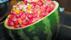 Watermelon salsa (Provided)