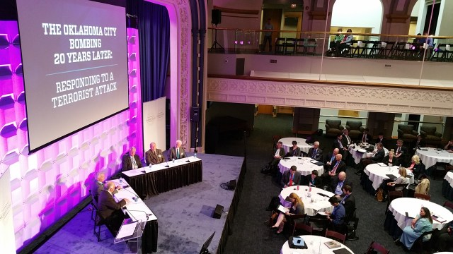 The National Summit on Homeland Security Law kicked off April 17 with a panel from former city leaders. (Ben Felder)