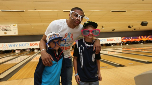 Russell Westbrook Why Not? Foundation Bowling Event