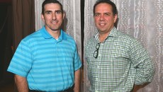 From left, Dale Cazes and Joe Jungmann will be partners in the new restaurant, Hopscotch.  (Mark Hancock)