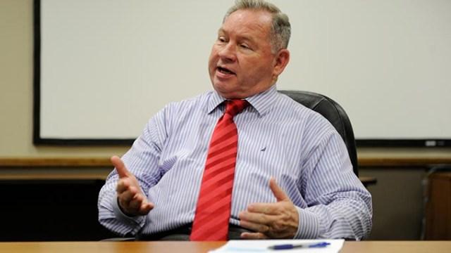 John Johnson speaks at the Association of Central Oklahoma Governments office in Oklahoma City, Wednesday, June 17, 2015.  (Garett Fisbeck)