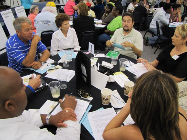 Community members and city leaders were able to provide input about the program. (Provided)