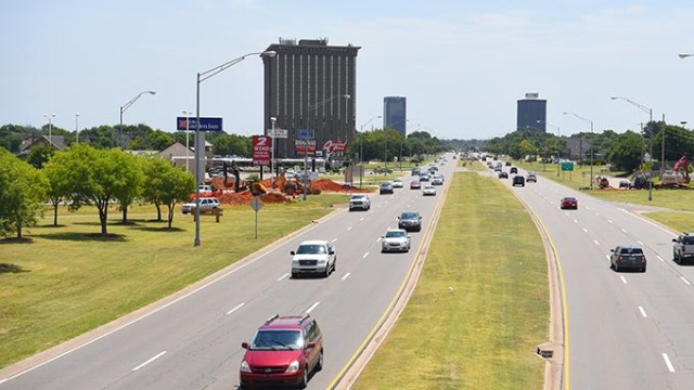 House District 85 includes the area on the north side of the Northwest Expressway in this view from the May Avenue overpass.  mh
