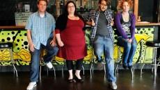 Alex Newman, Tiffany Watt, Jackson Curtin, and Melissa McGinnis pose for a photo at Sauced in Oklahoma City, Wednesday, July 8, 2015.  (Garett Fisbeck)