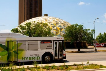 Gold Dome Hybrid Bus and Weeds 05
