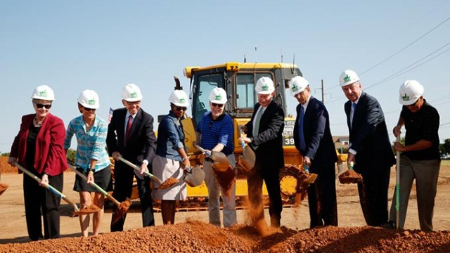 The groundbreaking of the MAPS 3 Senior Health and Wellness Center in Oklahoma City, Wednesday, Sept. 2, 2015.  (Garett Fisbeck)