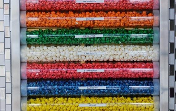 Flavored popcorn at Kernels & Kandies in Oklahoma City, Friday, Oct. 30, 2015.  (Garett Fisbeck)