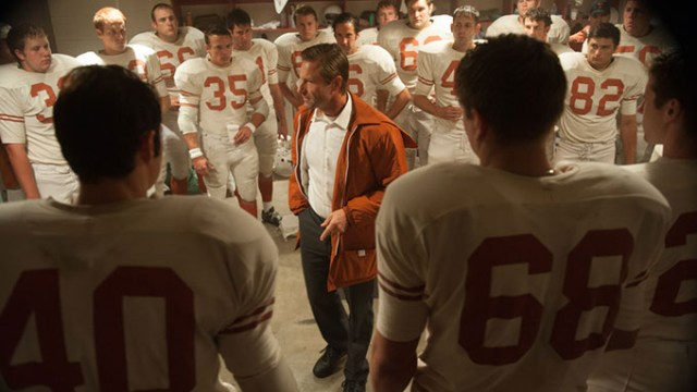 DSC_0611.NEF Coach Royal (Aaron Eckhart) is determined to turn his team around with a rousing halftime talk during the championship game against Arkansas in MY ALL AMERICAN Date Added 10/30/2015 6:00:00 AM Addtl. Info Photo credit: Van Redin/Clarius Entertainment
