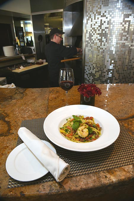 Shrimp pasta with red wine at Stella Modern Italian Cuisine. (Mark Hancock / File)