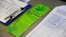 Medical marijuana petition at Organics OKC, Thursday, Dec. 3, 2015.  (Garett Fisbeck)