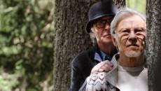 """SET DEL FILM """"LA GIOVINEZZA"""" DI PAOLO SORRENTINO..NELLA FOTO MICHAEL CAINE E  HARVEY KEITEL..FOTO DI GIANNI FIORITO"""