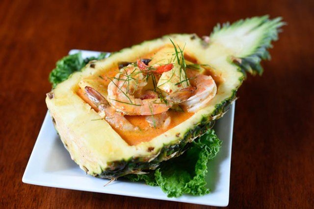 Gin Thai Fusion's shrimp pineapple curry raises the bar on presentation. (Garett Fisbeck)