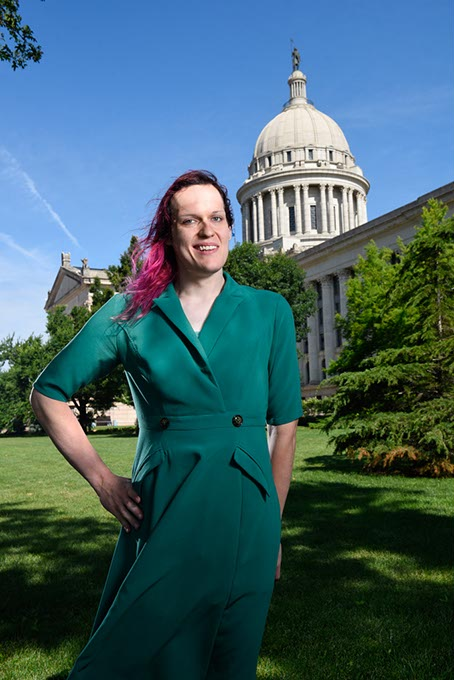 Welcome to Loud City blog manager Marina Mangiaracina is a trans woman running for House District 99. (Garett Fisbeck)