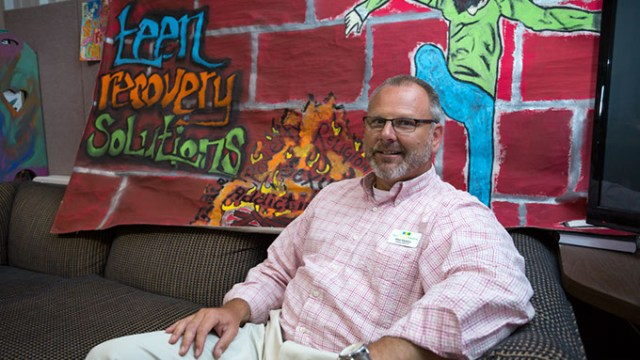 Mike Maddox , Clinical Director at Teen Recovery Solutions poses for a photo at Oklahoma City, Wednesday, June 8, 2016.  (Emmy Verdin)