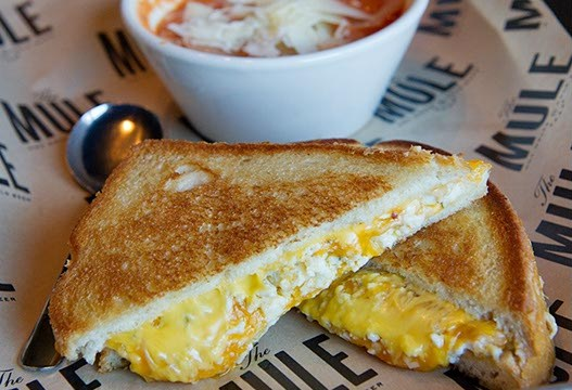 Big Ass Grilled Cheese (Feeling Bleu) at The Mule in Oklahoma City, Wednesday, Feb. 10, 2016.  (Garett Fisbeck)
