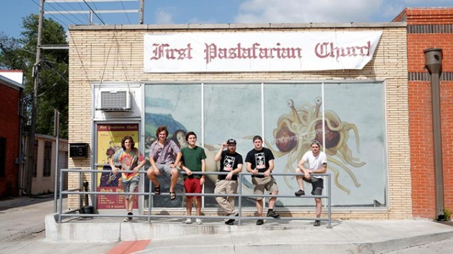 """The Crew"" at the First Pastafarian Church in Norman, Wednesday, June 15, 2016.  (Garett Fisbeck)"