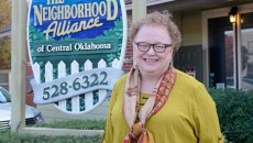 Georgie Rasco, executive director of The Neighborhood Alliance of Central Oklahoma, poses for a photo, Tuesday, Nov. 22, 2016.  (Garett Fisbeck)