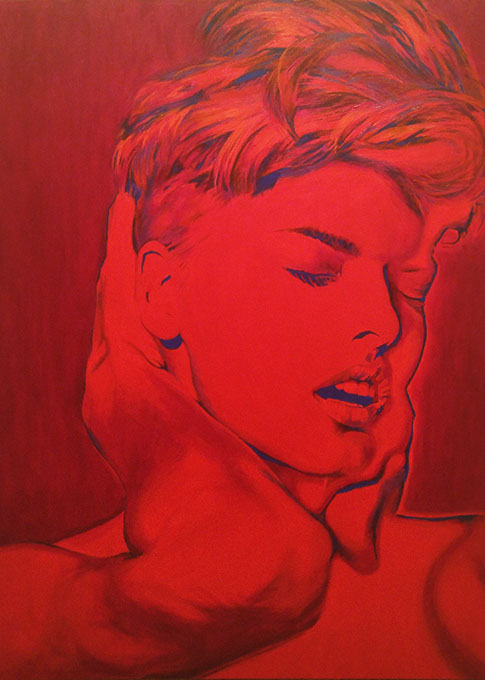 Graham Edwards painted '90s supermodel Linda Evangelista for OACF and 1219 Creative's World AIDS Day art show. (Provided)
