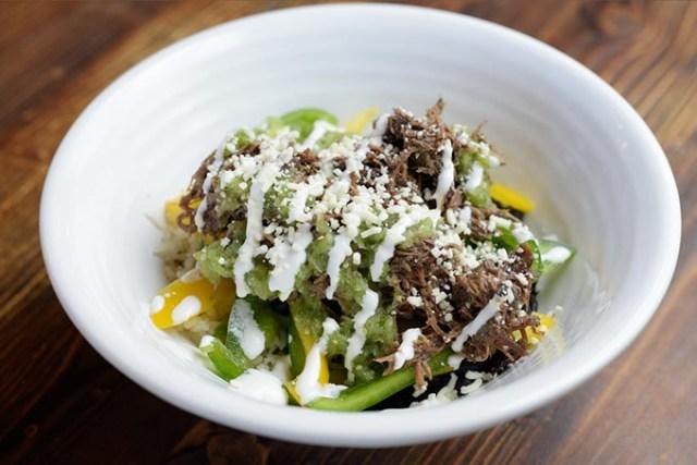 Beef barbacoa burrito bowl  (Garett Fisbeck)