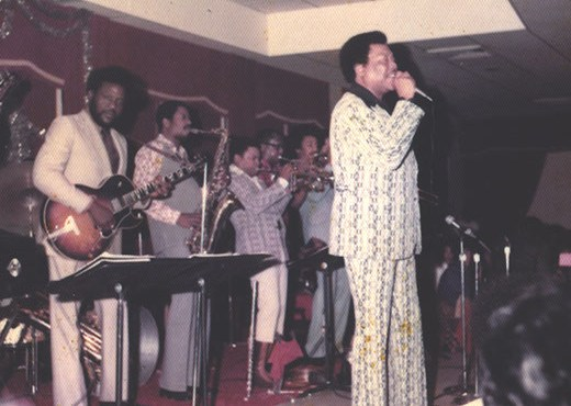 Ernie Fields jr with bobby blue bland