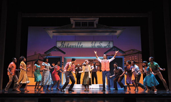 Reed L. Shannon center played Michael Jackson with the Jackson 5 in the first national tour of <em>Motown the Musical</em>. (Joan Marcus / OKC Broadway / provided)