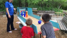 Interactive Bowling for Rhinos activity