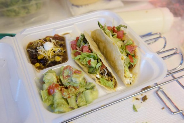 Tacos, black bean soup and Donkey Poo at the Blue Donkey Cafe (Garett Fisbeck)