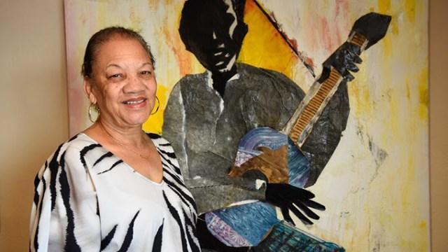 Anita Arnold poses for a photo at Black Liberated Arts Center, Friday, May 13, 2016.  (Garett Fisbeck)