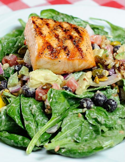 Salmon salad at Flip's Wine Bar & Trattoria (Garett Fisbeck / file)