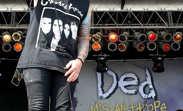 Vocalist of Ded, Joe Cotela, performs at Rocklahoma on Saturday, May 27, 2017 in Pryor, Okla. Rocklahoma was the band's first appearance in Oklahoma. (Cara Johnson).