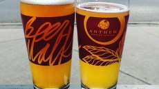 Anthem Beer Walk glassware at Empire Slice House[2]