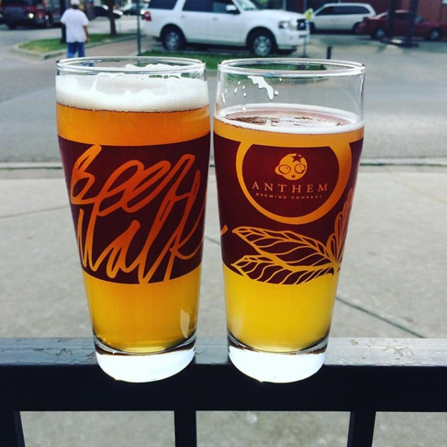 Plaza Beer Walk events feature special glassware that participants earn by visiting three of the district's bars. (provided)