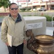 Vinh Nguyen at the location of the American Community Vietnam Monument at Military Park, Tuesday, June 27, 2017.  (Garett Fisbeck)