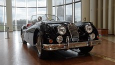 1955 Jaguar XK 140 MC at The Art of Speed exhibit at the Oklahoma History Center, Wednesday, July 5, 2017.  (Garett Fisbeck)