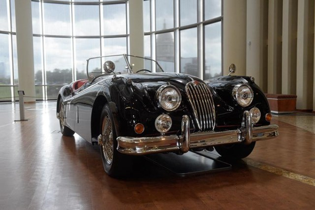 <em>The Art of Speed: Oklahomans and Fast Cars</em> includes a 1955 Jaguar XK 140 MC. (Garett Fisbeck)