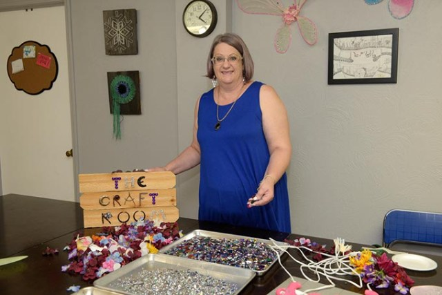 Cathy Sabin has been teaching art classes at The Craft Room in the Paseo Arts District since 2012. (Garett Fisbeck)