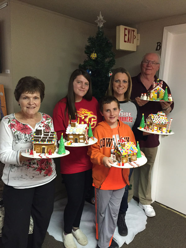 During the holiday season, Sabin teaches gingerbread house classes at The Craft Room. (The Craft Room / provided)