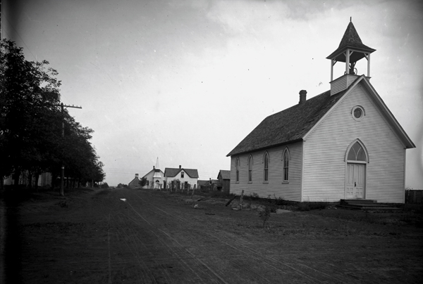 A Stillwater church in 1901 from a photo exhibit from Henry Wantland that inspired a film series at the National Cowboy & Western Heritage Museum. (provided)