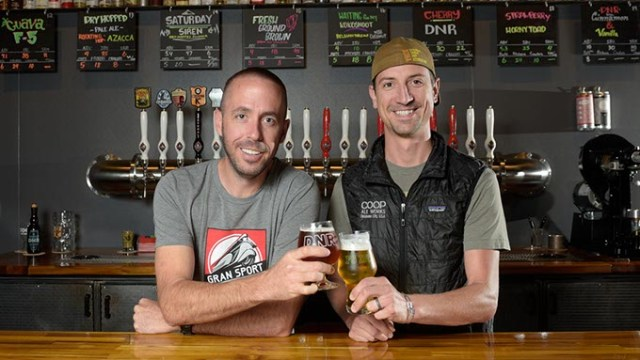 Daniel Mercer, co-founder, and Blake Jarolim, head brewer, plan for continued expansion of their COOP line. | Photo Garett Fisbeck