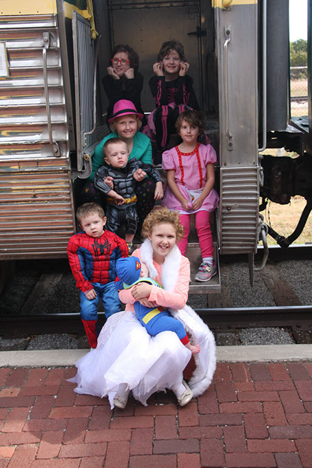 Oklahoma Railway Museum guests are encouraged to wear costumes as they ride the Halloween Steam Train. (Oklahoma Railway Museum / provided)