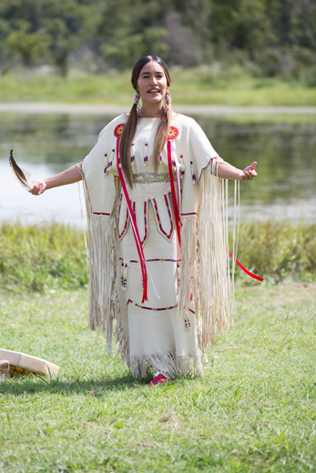 Q'orianka Kilcher portrays Oklahoma storyteller Te Ata in a film produced by the Chickasaw Nation. (Chickasaw Nation / provided)