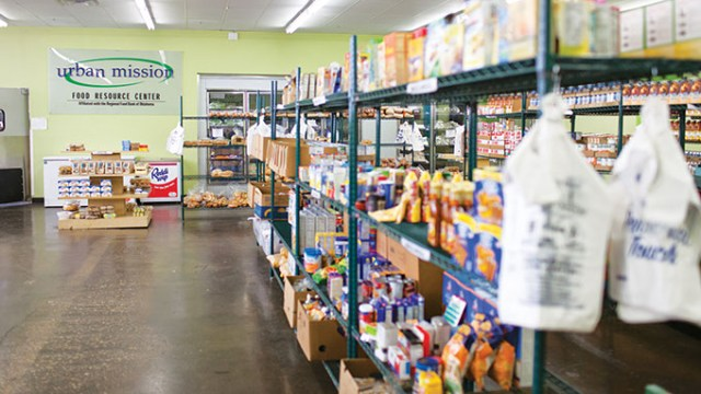 The Urban Mission's food resource center was the first of its kind in Oklahoma when it opened in 2012. | Photo provided