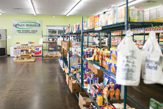 The Urban Mission's food resource center was the first of its kind in Oklahoma when it opened in 2012. (Provided)
