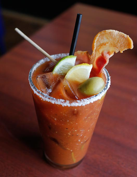 Bacon Bloody Mary at Bacon, Tuesday, Oct. 3, 2017.  (Garett Fisbeck)