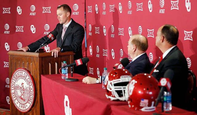 Lincoln RIley was introduced as the new University of Lincoln Riley was introduced as the new University of Oklahoma head coach on June 7. (University of Oklahoma / provided)