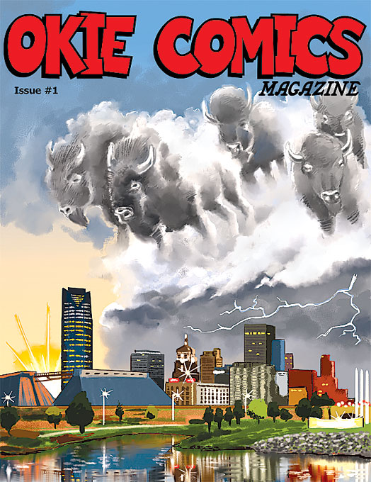 The first issue of <em>Okie Comics Magazine</em> launched early this month. (Matthew Brendle / provided)