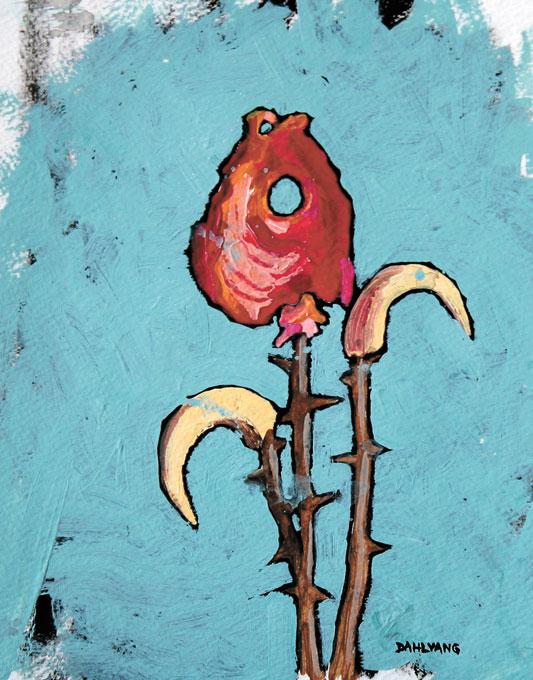 """Fish Head Flower"" by Bryan Dahlvang (Bryan Dahlvang / Oklahoma Visual Arts Coalition / provided)"