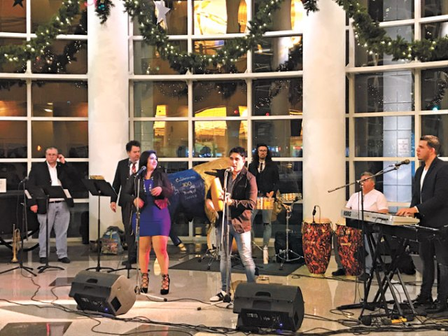 The band Orquestra D'Calle has performed at a previous Opening Night. This year, guests will have a wide variety of musical, comedy and performance entertainment to keep them occupied before the ball-raising ceremony at midnight. (Arts Council Oklahoma City / provided)